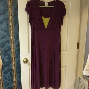 2 for $20 GUC Avon purple and lime green dress